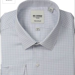 Ben Sherman mens tailored fit houndstooth shirt